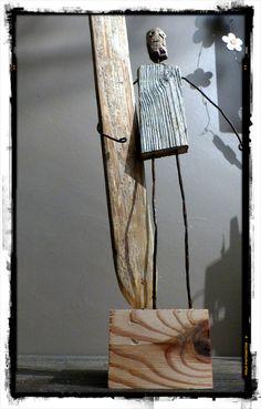 Création surf art en bois flotté