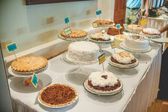 Pie/dessert table