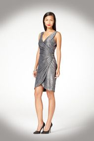 Ruched Metallic Dress - Cocktail at Maggy London