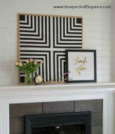 This geometric cork board.