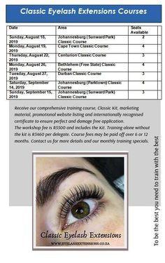 Classic Eyelash Extensions Courses Book Your Course Now!! info@luscious.co.za 072 338 7000  #johannesburg #capetown #bethlehem #durban Eyelash Extension Course, Bethlehem, Cape Town, Eyelash Extensions, Eyelashes, Book, Classic, Lashes, Derby
