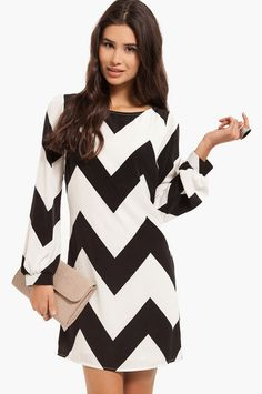 Linus Zig Zag Shift Dress - Amanda/Tricia