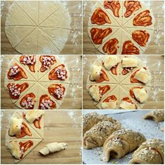 Enkle, grove pizzahorn Food Inspiration, Food And Drink, Baking, Ideas, Pai, Bakken, Thoughts, Backen, Sweets