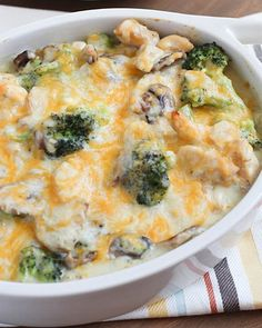 22. Skinny Chicken and Broccoli Casserole #beginner #dinner #recipes…