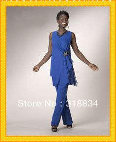special occasion pant suits for women | 2014 Fashion Two Pieces Mother Of The Bride Pant Suits Wide Straps ...
