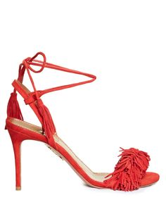 Wild Thing suede fringed sandals | Aquazzura | MATCHESFASHION.COM