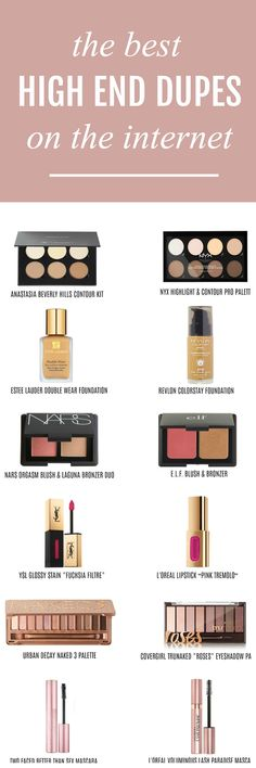 I need every single dupe! | Beauty blogger Michelle Kehoe of Mash Elle shares the best affordable drugstore makeup dupes of some of your favorite high end makeup products! Discover dupes for Urban Decay, Hourglass, Too Faced, Lnacome, MAC, Laura Mercier, Anastasia Beverly Hills, Estee Lauder, NARS, YSL, Lorac, Giorgio Armani, Benefit, Chanel and more! Plus, discover my amazing money saving hack with @topcashbackUSA #ad #drugstoremakeup #makeupdupes #makeup #affordablemakeup