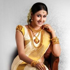 Traditional Kerala Saree  #KeralaSaree