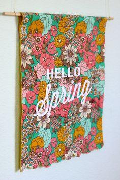 diy hello spring banner