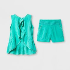 Girls  Embroidery Matched Set - Cat  amp  Jack™ Green   Target Jack Green 6eeccd7a6