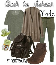 Star Wars: Yoda (back 2 school) inspired outfit by Disneybound at:  http://disneybound.tumblr.com/