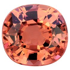 A perfect malaia garnet - With an antique-looking cushion cut and the tropical sunset peach-pink is my favorite.