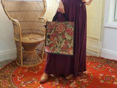 Vintage floral tapestry shopper bag - boho shopping tote bag Shopper Bag, Tote Bag, Boho Kimono, Asian Style, Vintage Floral, Vintage Dresses, Tapestry, Royal Mail