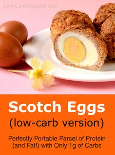 Low-Carb Scotch Eggs – a Perfectly Portable Parcel of Protein Scotch Eggs with Psyllium breading Ketogenic Breakfast, Low Carb Breakfast, Perfect Breakfast, Breakfast Ideas, Breakfast Recipes, Homemade Scotch Eggs, Scotch Eggs Recipe, Egg Recipes, Low Carb Recipes