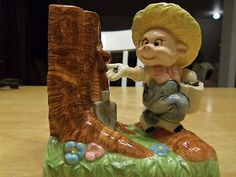 $6.00 Look what I found on @eBay! Vintage Johnny Appleseed Porky Pig Porcelain http://r.ebay.com/y5lW9B