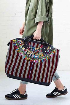 Stela 9 Isabel Embroidered Weekender Bag