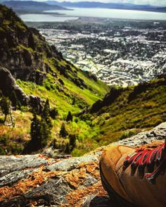 #they #ymountain #byu #provo #brighamyoung #hikingtrail #hiking #spring #utah #ut #hike #mountains #wild #nature #green #clouds #cloudy #beautiful #travel #travelgram #travelling #provocanyon #outwest #amazing #utahlake #valley #birdview #boots #bluejeans  #free by brucewaynemusic