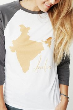 100% cotton women's statement tee. India. Love.