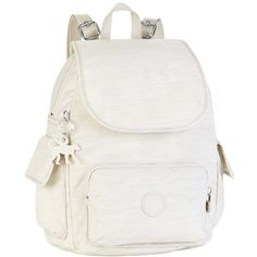 Kipling Small City Pack Backpack, Dazz Cream ($100) ❤ liked on Polyvore featuring bags, backpacks, dazz cream, knapsack bag, faux-leather backpack, pocket bag, backpack bags and fake bags