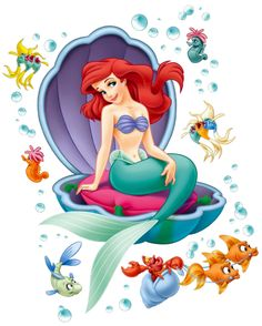 Walt Disney Poster-Sticker Wall-Tattoo - Ariel, The Little Mermaid x 26 inches) Ariel Disney, Princesa Ariel Da Disney, Walt Disney, Mermaid Disney, Disney Little Mermaids, Mermaid Princess, Ariel The Little Mermaid, Disney Art, Disney Pixar