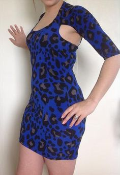 Santana&39s blue leopard print dress on Glee. Outfit Details: http ...