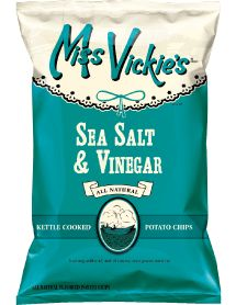 Miss Vickie's Kettle Cooked Sea Salt & Vinegar Potato Chips, oz Bag, Kettle Cooked Chips, Kettle Chips, Salt And Vinegar Potatoes, Light Snacks, How To Cook Potatoes, Good Enough To Eat, Potato Chips, Cravings, Healthy Snacks