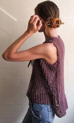 Merino Plum knitted waistcoat Ltd Edition by ileaiye on Etsy, $68.00