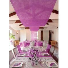 tenture intiss pour dcoration de salle tenture mariage et ftes pour dcorer murs et plafond - Voilage Mur Mariage