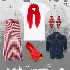 Easy cute outfit for a busy mom.  Love the shoes! :)