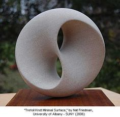 "2009 Mathematical Art Exhibition - ""Trefoil Knot Minimal Surface,"" by Nat Friedman, Professor Emeritus, University of Albany - SUNY (2006) - Mathematical Imagery Presented by the American Mathematical Society"