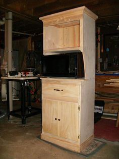 microwave cart project plans | ... was able to take a picture of my latest project. Microwave Hutch