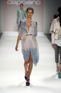 the Mariana Dappiano collection at the Argentine Designers fashion show during Mercedes-Benz Fashion Week Spring 2014 at The Stage at Lincoln Center on September 6, 2013 in New York City.