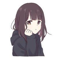 It is a cute sticker of kurumi-chan. Anime Neko, Cute Anime Chibi, Chica Anime Manga, Cute Anime Pics, Anime Girl Cute, Kawaii Anime Girl, Otaku Anime, Manga Girl, Anime Art Girl
