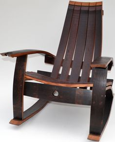 Check out Wine Barrel Rocking Chair - Wine Barrel Rocking Chair #furniture #style #ebay #design http://ht.ly/TDuO30e60fj