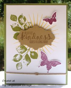 Kinda Eclectic, Stampin Up @ My Tanglewood Cottage
