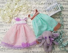 Blythe dress. Dress for Blythe blythe clothes.