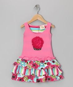 Take a look at this Pink Blossom Cupcake Dress - Girls by Cheeky Smyle on #zulily today!