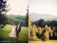 Beautiful Outdoor Weddings. Love the greenery of our venue here at Pine River Ranch