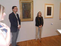 Museo Arte Contemporanea donazione opera #DoloresPuthod les pleureuses con il direttore del Museo #PaoloBolpagni