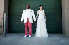art gallery wedding. tattooed bride. YES PLEASE