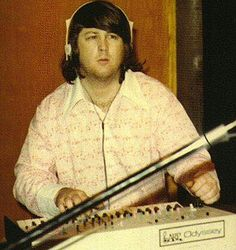 Brian Wilson, playing the ARP Odyssey