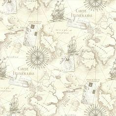 Tapete Arthouse Navigator VIP Kartographie Luxus Vintage Nautische Karte - Silber Grau 622004: Amazon.de: Küche & Haushalt