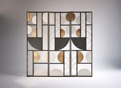 Art Deco Period Influences in Contemporary Interior Design Home Design, Design Hotel, Interior Design, Partition Screen, Partition Design, Room Divider Screen, Room Screen, Screen Doors, Geometric Furniture