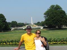 El Monumento a Washington, gran obelisco blanco localizado en el extremo oeste del National Mall de Washington D.C. Es un monumento conmemorativo al primer presidente de los Estados Unidos.