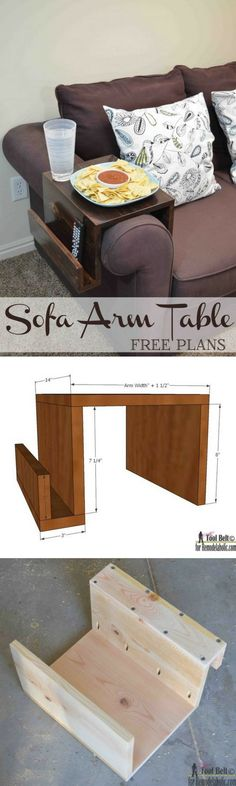 Check out the tutorial how make a DIY sofa arm side table @istandarddesign