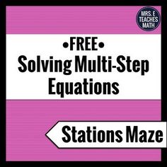 This card sort is a fun activity to help Algebra 2 students practice factoring polynomials. Math Teacher, Teaching Math, Solving Equations, 8th Grade Math, Math Word Problems, Math Notebooks, Free Math, Math Skills, Maze