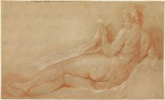 Study for a Reclining Nude - Francois Boucher. Red and white chalk on cream paper. x cm. Cooper Hewitt National Design Museum, New York City NY, USA. Artist Painting, Figure Painting, Figure Drawing, Renaissance Paintings, Renaissance Art, Google Art Project, Design Department, White Chalk, Design Museum