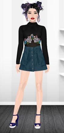 Fashion Stardoll  Jogo de Moda @rafaela.liberal Stardoll : rafaela_liberal Ideias Fashion, Skirts, Fashion Games, Dress Games, Mini Skirts, Latest Fashion, Toddler Girls, Celebs, Skirt