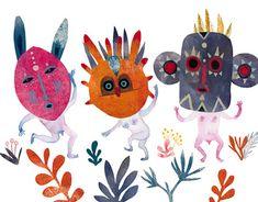 Wild Kids by Adolfo Serra on Behance Illustration Arte, Illustrations, Expressions Of Sympathy, Art Deco, Freelance Illustrator, Texture Painting, Woman Painting, Drawing S, Street Art