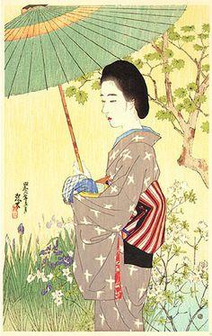 版画ギャラリー。 。 。 鳥居ギャラリー:伊藤Shinsuiによって初夏の雨